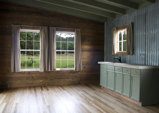 reclaimed space small house interior