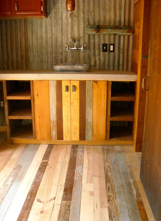 reclaimed space small house kitchen