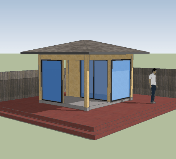 Porch shed design competition entries for Small house design competition