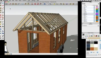 How To Draw A Tiny House With Google SketchUp  Part - Tiny house design tool