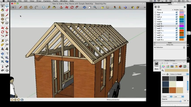 How To Draw A Tiny House With Google SketchUp U2013 Part 3 Part 81