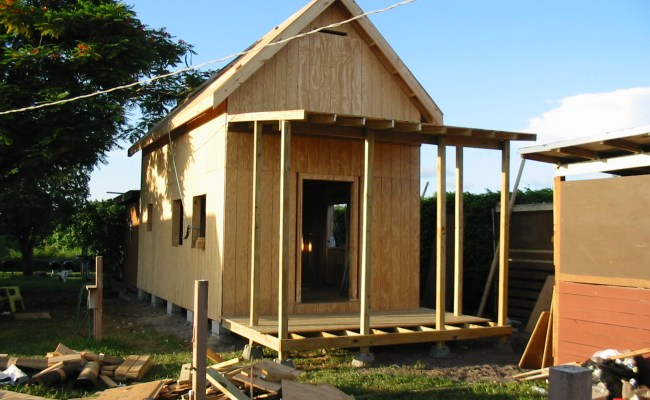 Keith Is Building The 12x24 Homesteader S Cabin Tiny