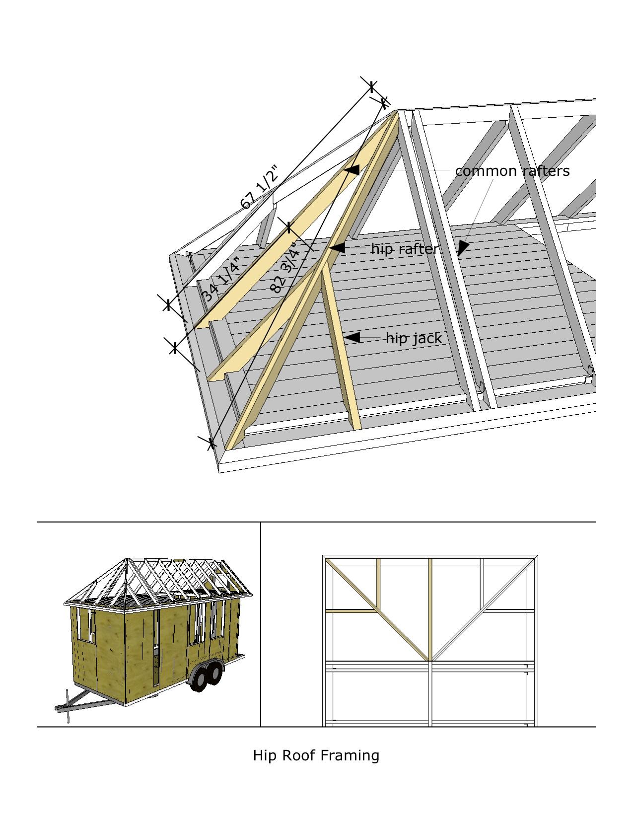 Caspar cottage 8 20 hip roof framing for Hip roof porch plans