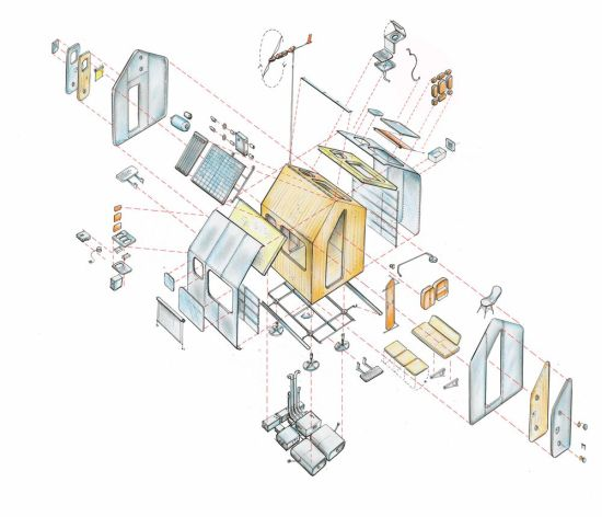 Diogene by Renzo Piano - Exploded View