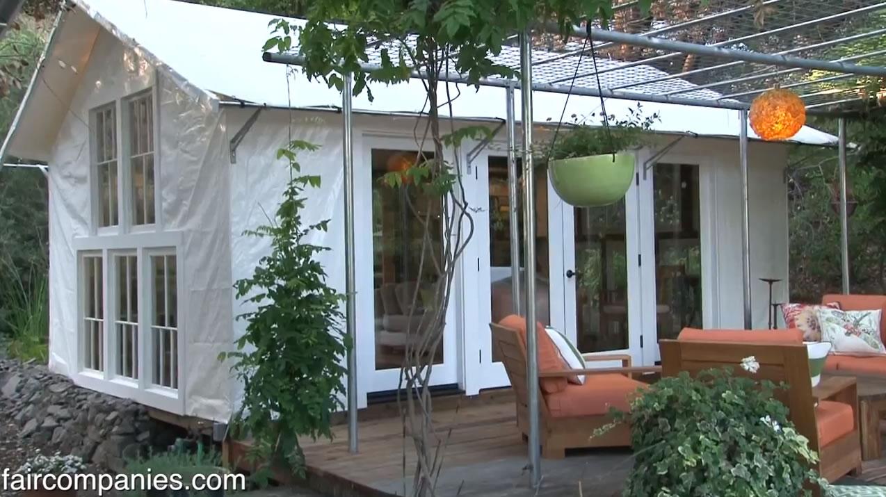 Decadently Primitive Tiny Tent Living