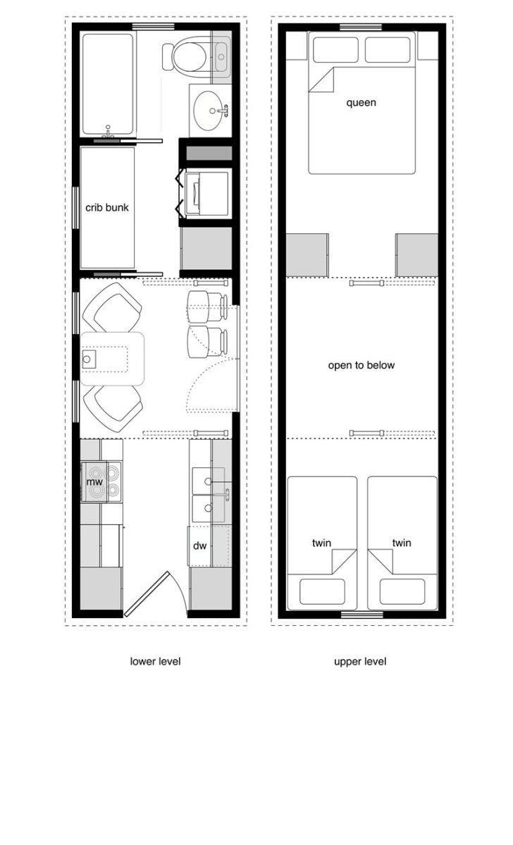 Family tiny house design for Tiny house trailer floor plans