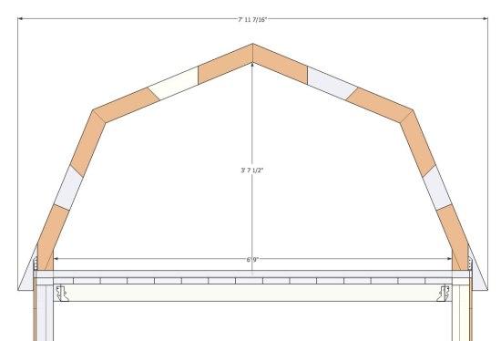 Micro Gambrel - Loft Dimensions