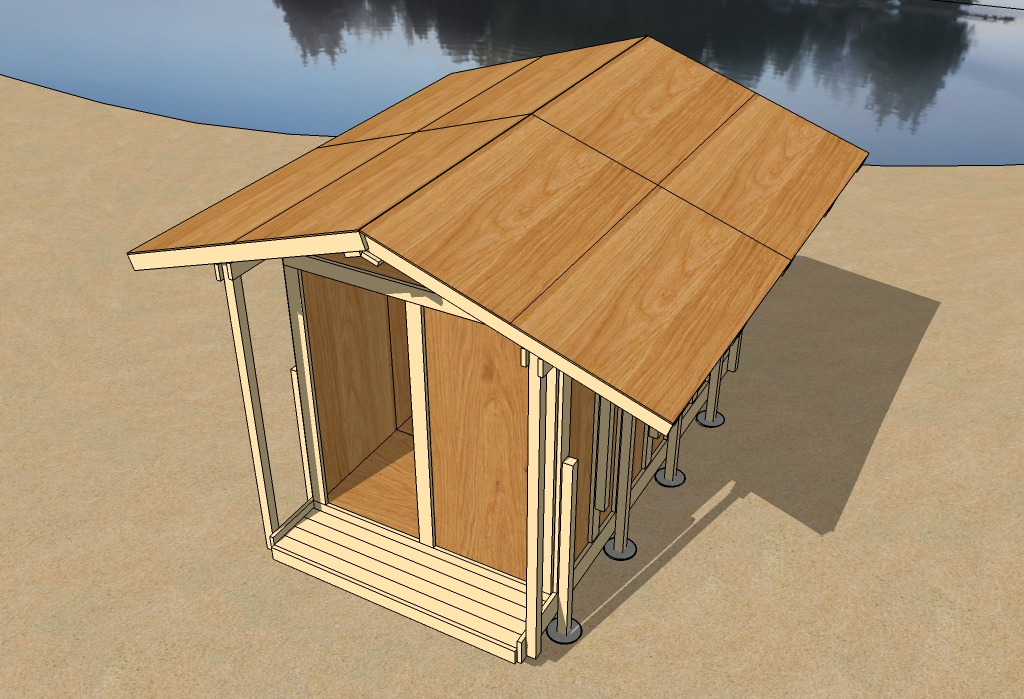 Uncut tiny house preview for Roof sheathing material
