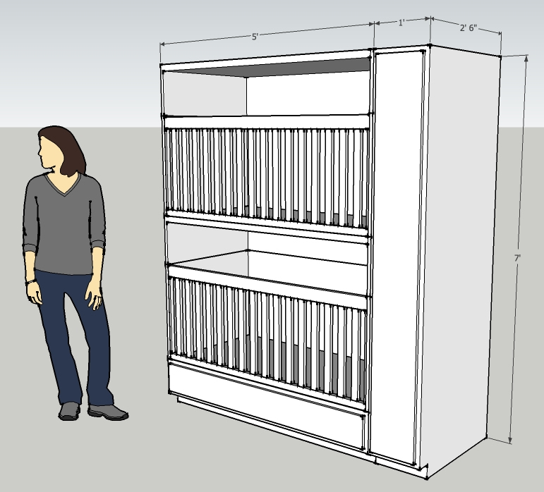 Family tiny house design for Stackable bed plans