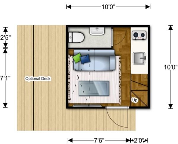 Nomad Micro Homes - Floor Plan Lower Level