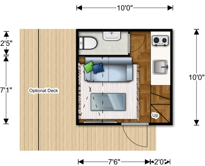 Spectacular Nomad Micro Homes Floor Plan Lower Level