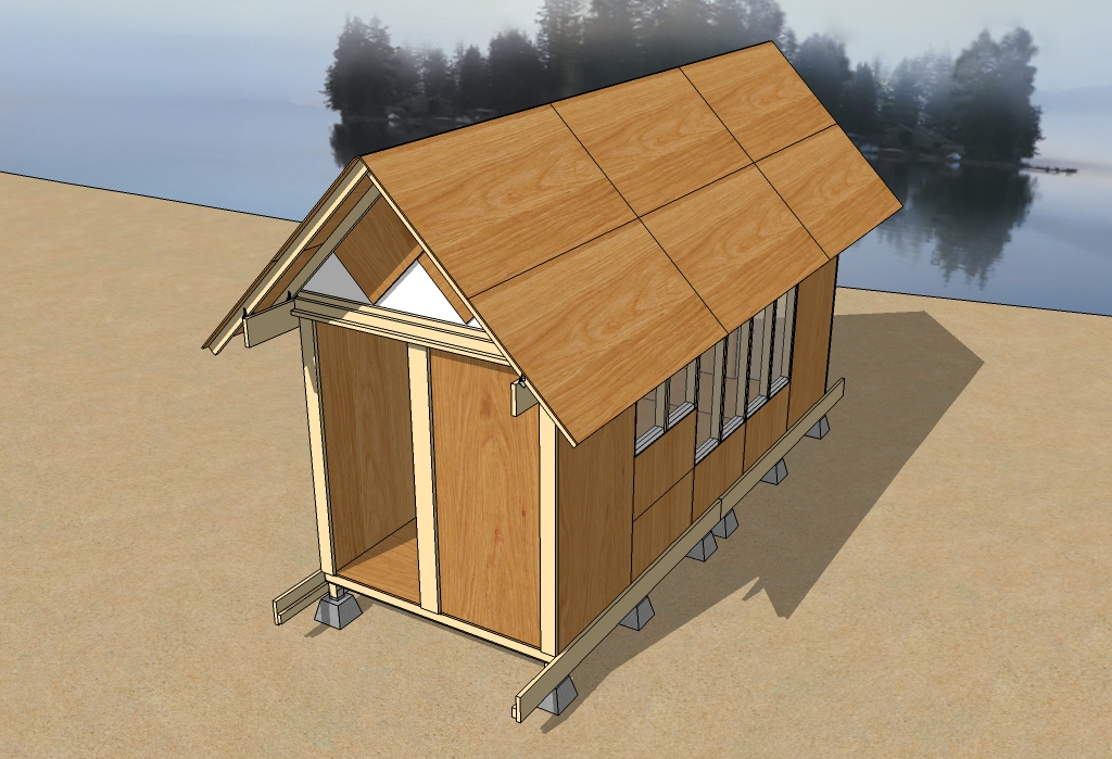 Uncut tiny house improved for Roof sheathing material