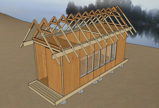 Uncut Tiny House v3 25 Roof Trusses