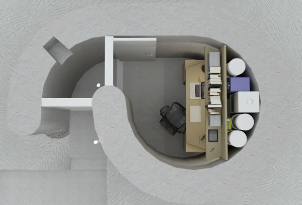 Spiral Shelter - Above View - Office Use