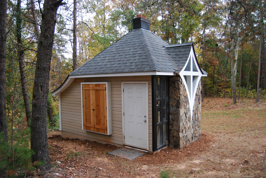 Tiny Home Designs Plans: Jeff's Cabin & Greenhouse