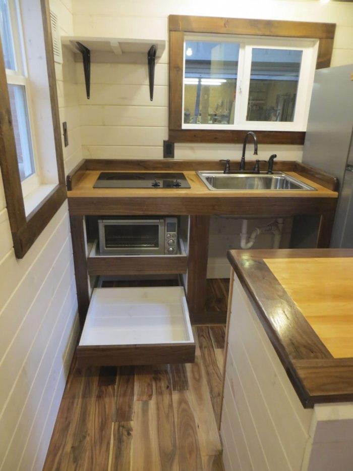 Robins Nest Kitchen-Brevard Tiny House Company
