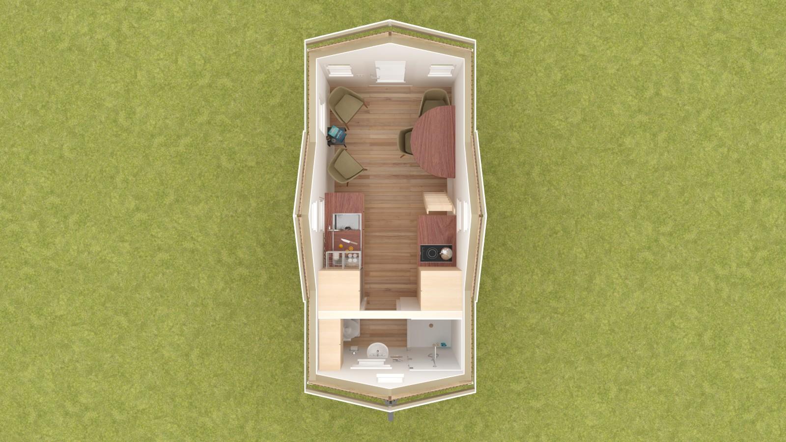 Albion 16 Interior - Lower Level