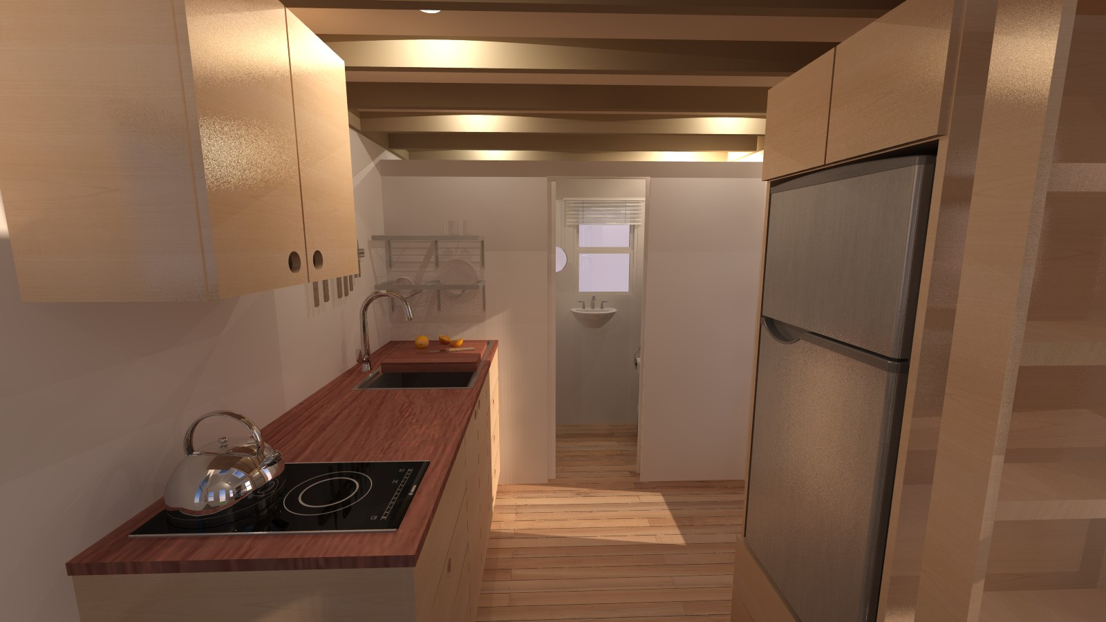 Calpella 18 Tiny House Kitchen