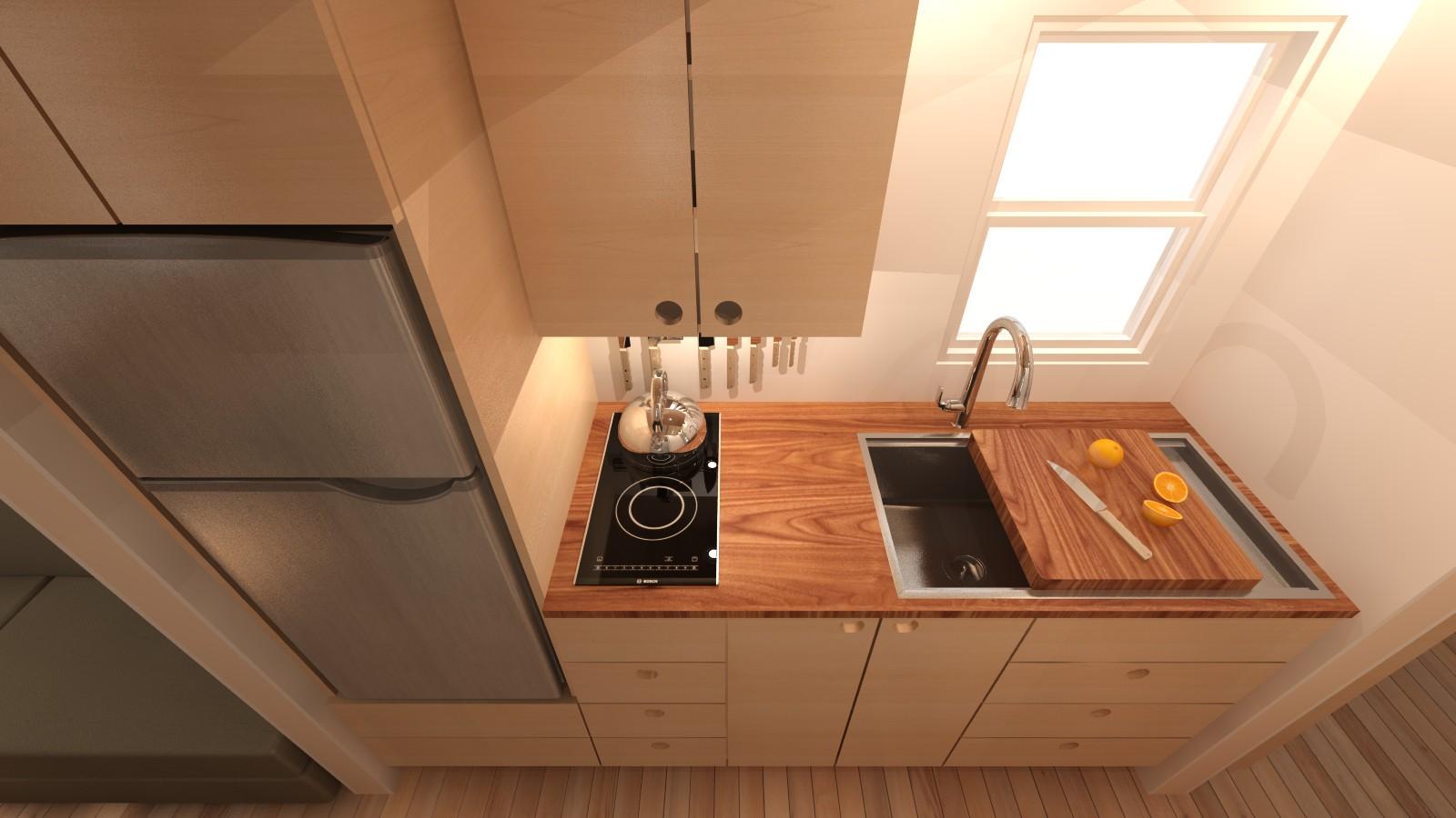 Covelo 20 Tiny House Interior Kitchen