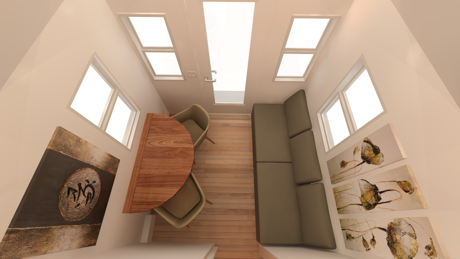 Covelo 20 Tiny House Interior Living Room From Loft