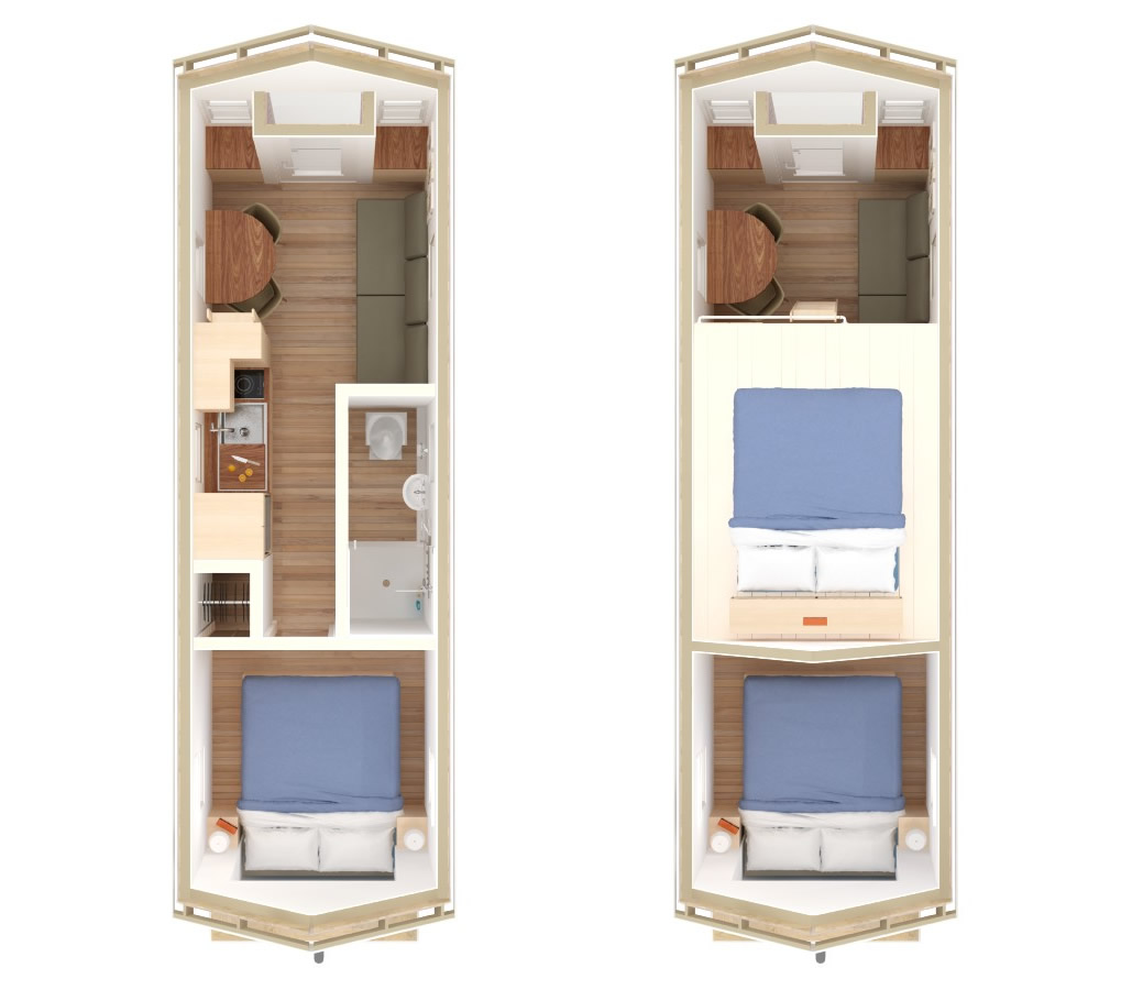 Little River 24 Tiny House Interior Floor Plan