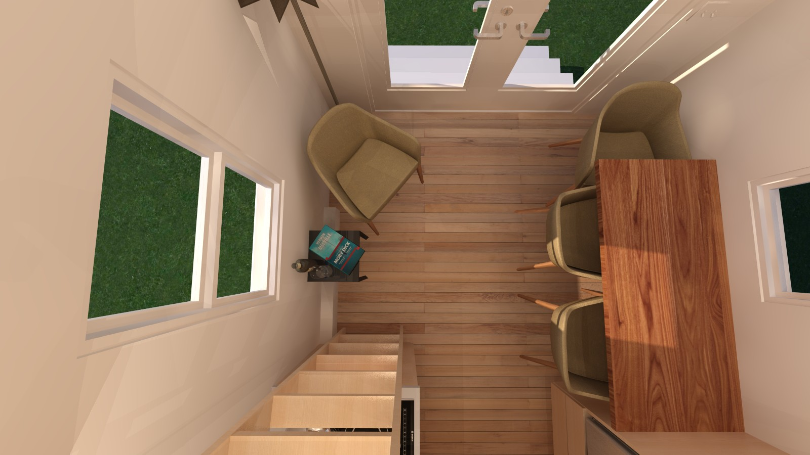 Manchester 14 Tiny House - View from Loft