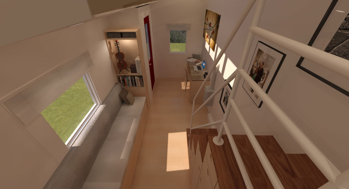 Potter Valley  Tiny House view from Loft