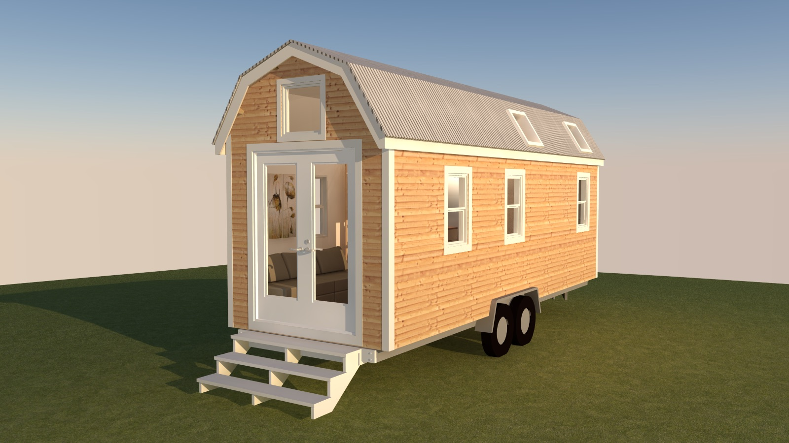 Redwood Valley Tiny House Exterior Front Right