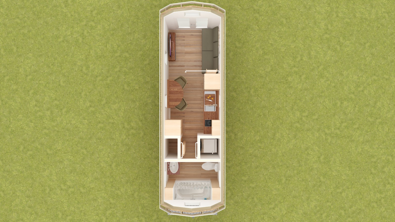 Redwood Valley Tiny House Floor Plan Lower Level