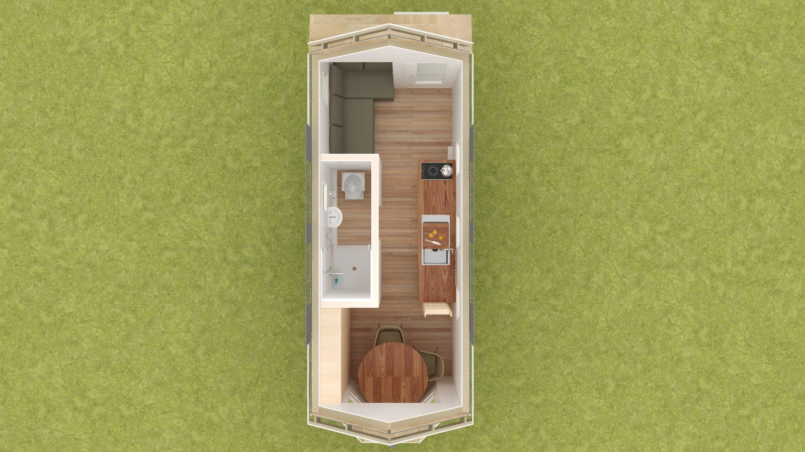 Talmage 20 Tiny House Floor Plan Lower Level