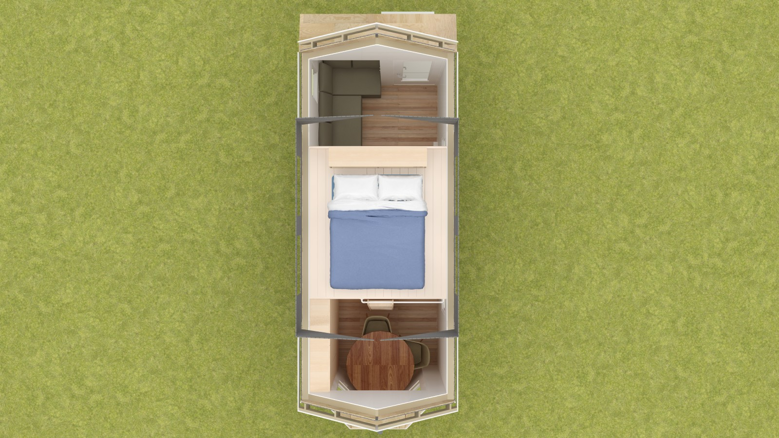 Talmage 20 Tiny House Floor Plan Upper Level
