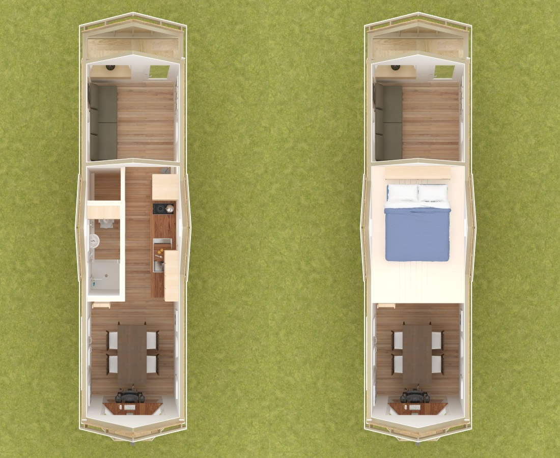 Westport 28 Tiny House Interior Floor Plans