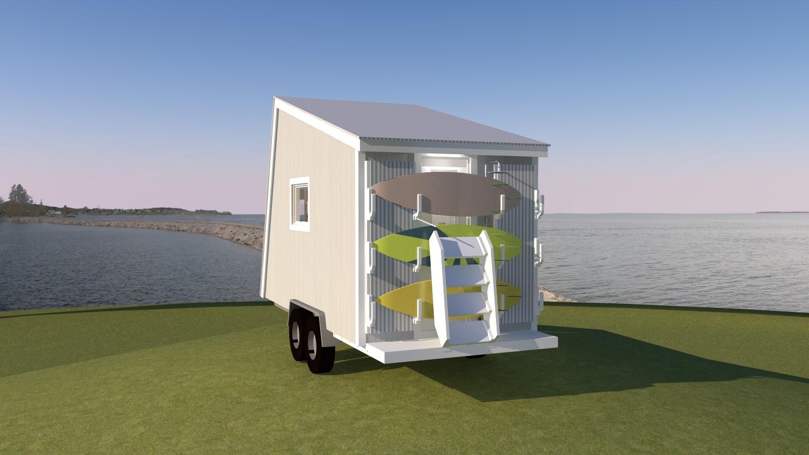 Anchor Bay 16 Tiny House - Privacy Wall Closed