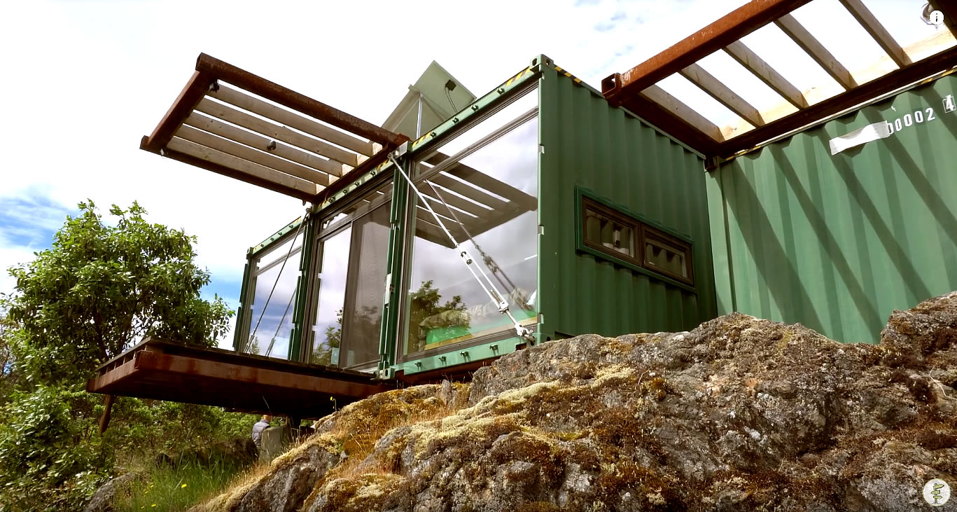 Honeybox shipping container house tour for Home design alternatives