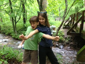 Ella and Archer at Rock Castle Creek