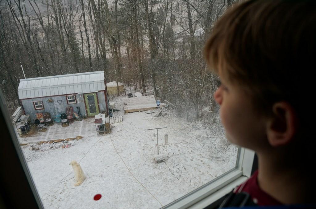 Archer's big house bedroom window.