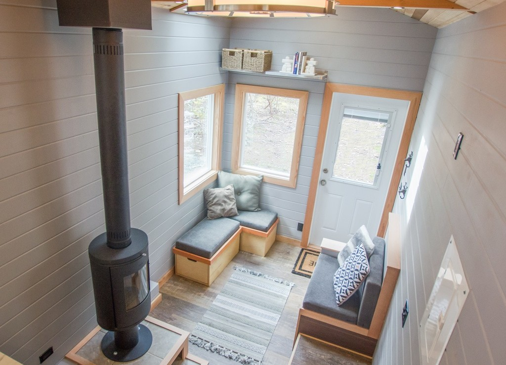 The Blue Heron by Rewild Homes - Interior from Loft