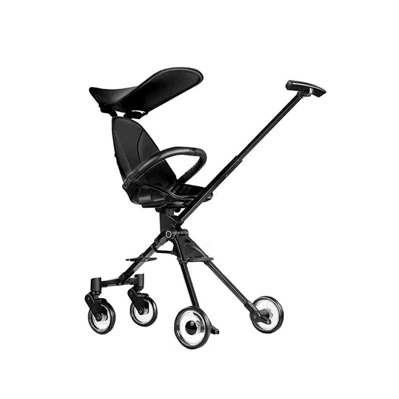 Pouch A03 Lightweight Aluminum Alloy Frame Foldable Bidirectional two-way Shock Absorber Black Stroller