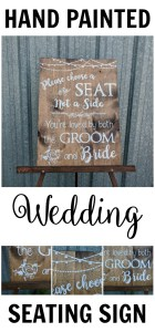 seating sign - tiny little dreams 4 u