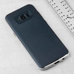 Coque Samsung Galaxy S8 Olixar X-Duo effet fibres de carbone – Argent