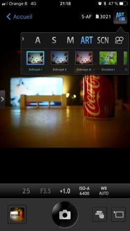 application commande à distance filtres
