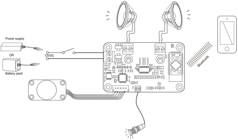 2 X 8 Watt Class D Bluetooth 4 0 Audio Amplifier Diy Kit With Volume Knob