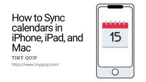 calendar sync on iPad