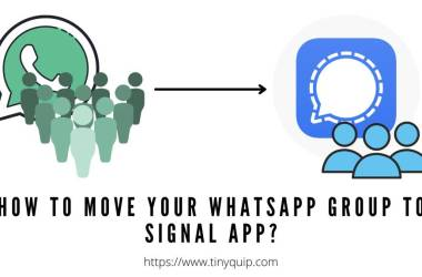 move whatsapp group to signal group