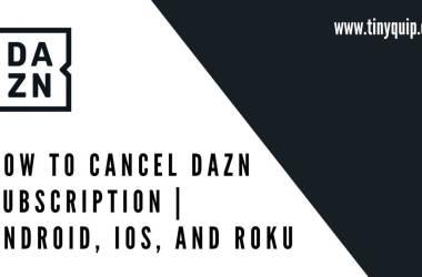 cancel dazn subscription