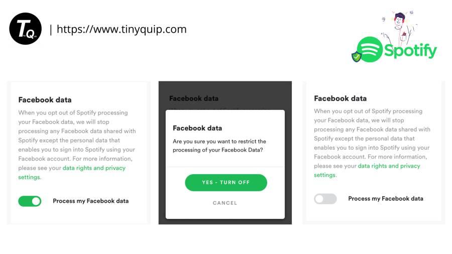 spotify settings facebook data sharing