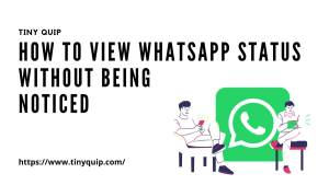view whatsapp status without seen