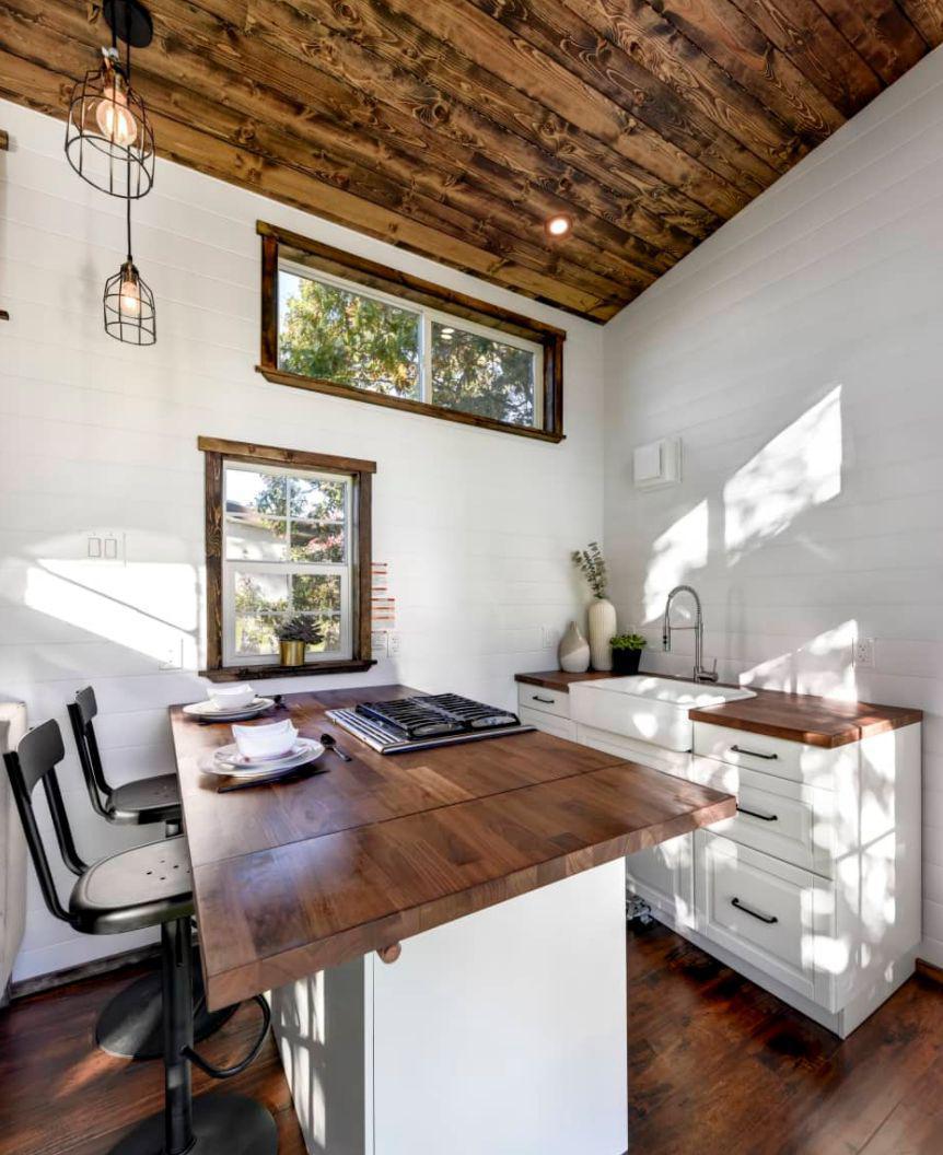 hight resolution of plenty of kitchen storage for a tiny house