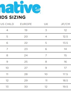 Native footwear kids size chart also shoes charts and sizing help tinysoles rh