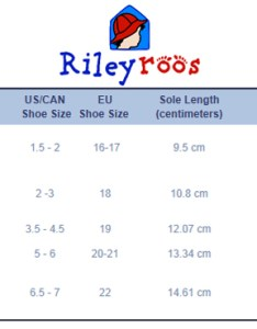 Rileyroos size chart also kids shoes charts and sizing help tinysoles rh